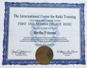 first and second degree reiki
