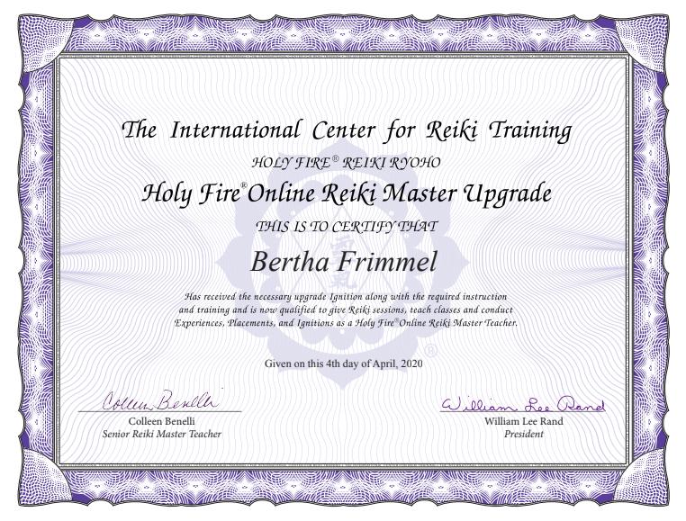 Online Reiki Master Upgrade